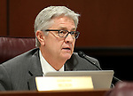 Nevada Assemblyman Erven Nelson, R-Las Vegas, works in committee at the Legislative Building in Carson City, Nev., on Friday, April 10, 2015. <br /> Photo by Cathleen Allison
