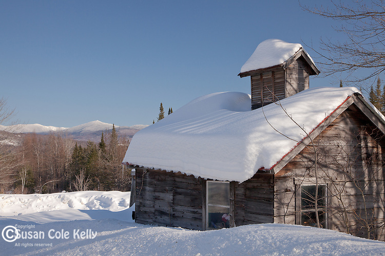 Farm with a view of the White Mountains in Franconia, NH, USA
