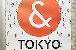 A ''& TOKYO'' poster on display in Shinjuku subway station on October 16, 2015, Tokyo, Japan. Tokyo Metropolitan Government launched a new logo as a part of the Tokyo Brand Promotion Campaign with the aim of making the city the principal tourist destination in the world ahead of the Tokyo Olympic and Paralympic games in 2020. (Photo by Rodrigo Reyes Marin/AFLO)
