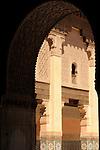 An archway in Ibn Yusuf Medrassa in Marrakesh, Morocco.