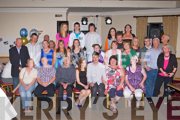 KEY TO THE DOOR: Christopher Courtney, Tonevane (seated 5th left) enjoying a great time celebrating his 21st birthday with family and friends at the Kerins O'Rahillys clubhouse, Tralee on Saturday.