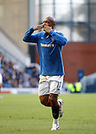 El Hadji Diouf blows a kiss to the Rangers fans in the Govan Stand