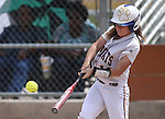 Western Nevada College's Katelyn Bomar gets a hit against the College of Southern Nevada on Friday, May 2, 2014, in Carson City, Nev. <br /> Photo by Cathleen Allison/Nevada Photo Source