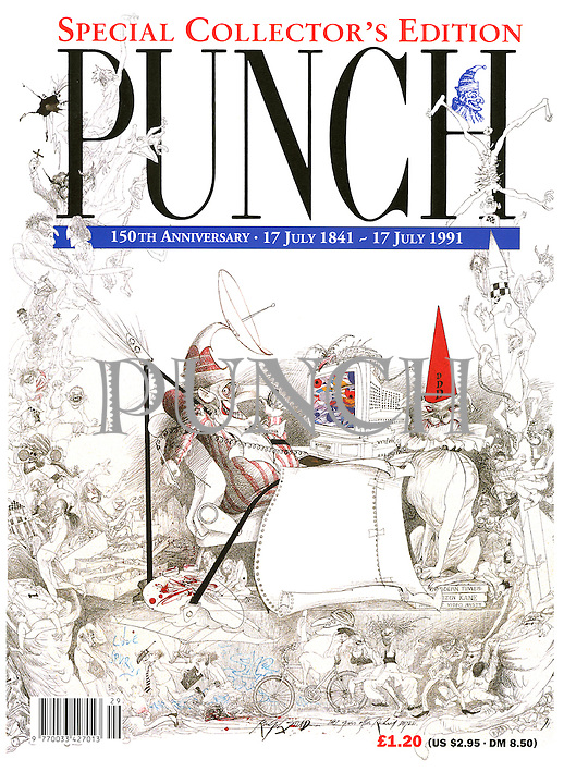 (Punch front cover, 150th Anniversary issue, 17 July 1991)