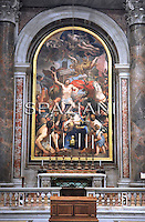 "John Paul II's Body to Be Placed in Vatican Basilica ..their work to move the body of the soon to be beatified Pope John Paul II from the grottoes to the main basilica. He'll be moved to the Chapel of Saint Sebastian where currently Blessed Pope Innocent XI..the remains of soon-to-blessed John Paul II will be translated (""translate"" is a technical term for the moving of the body or relics) from the crypt below up to the Chapel of St. Sebastian in the Vatican Basilica itself, where at the moment is the altar and tomb of Bl. Innocent XI.  This chapel is, as you walk into St. Peter's, in the right hand nave, passed the Pietà.  I have said Mass there many times.  However, the body of the blessed will not be exposed.  It will be enclosed in a simple tomb of marble with the inscription: Beatus Ioannes Paulus ii....The Chapel of Saint Sebastian, on the right side of the basilica as you walk in, and right before the Blessed Sacrament Chapel, is dedicated to the 3rd century martyr. Sebastian was murdered at the time of the Diocletian for confessing faith in Jesus Christ as  Savior. Sebastian was first shot through with arrows, nursed to health and then later beaten to death. The chapel was completed by Pier Paolo Cristofari based on a design of Domenico Zampieri..February 3, 2011"