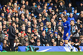 2nd December 2017, Stamford Bridge, London, England; EPL Premier League football, Chelsea versus Newcastle United; Chelsea Manager Antonio Conte makes is views known to Marcos Alonso of Chelsea