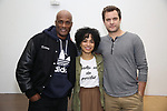 "Kenny Leon, Lauren Ridloff and Joshua Jackson attends the cast photo call for the Broadway Revival of  ""Children of a Lesser God"" on February 22, 2018 at the Roundabout Rehearsal Studios in New York City."
