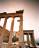 GREECE, Athens, columns at the Acropolis of Athens