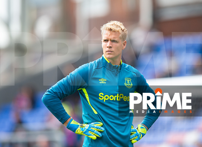 Everton Jonas Lossl during the Premier League match between Crystal Palace and Everton at Selhurst Park, London, England on 10 August 2019. Photo by Andrew Aleksiejczuk / PRiME Media Images.
