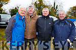 Des Grace (Tralee), Martin and Denis O'Regan from Tralee with Mike Moriarty (Currow) at the Castleisland Coursing meeting on Monday.