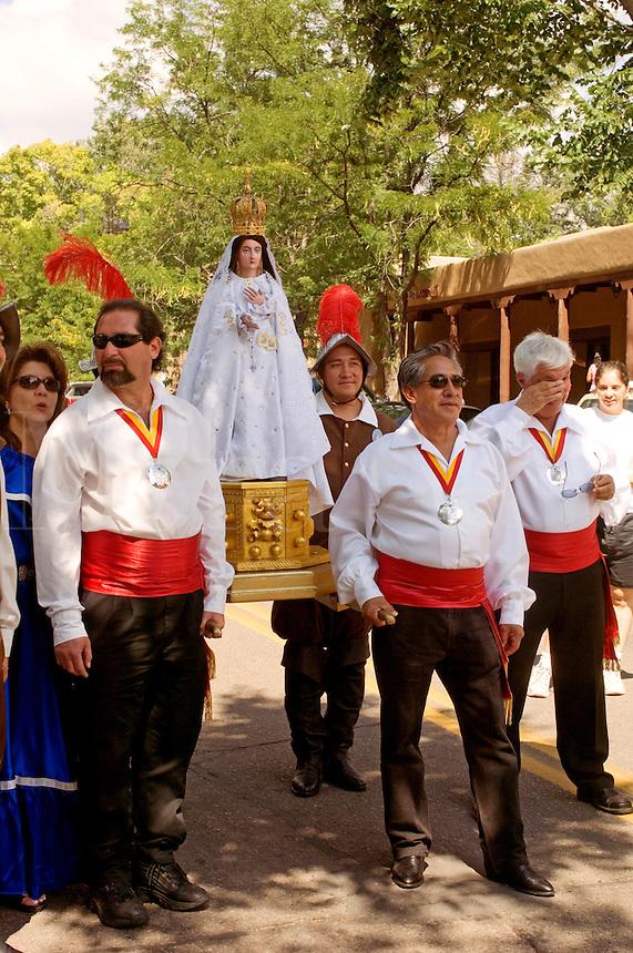 La Conquistadora procession at the Fiesta de Santa Fe, New Mexic