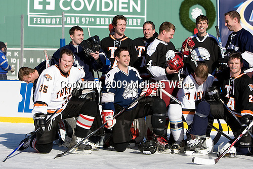 Matthew Goethals, ?, ?, ?, ?, ?, Brendan Byrne, ?, ?, Justin Dziama, ? - Ice Hockey at Fenway Park on Tuesday, December 22, 2009, in Boston, Massachusetts.