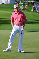 Hudson Swafford (USA) after his birdie putt on 12 during round 1 of the Honda Classic, PGA National, Palm Beach Gardens, West Palm Beach, Florida, USA. 2/23/2017.<br /> Picture: Golffile | Ken Murray<br /> <br /> <br /> All photo usage must carry mandatory copyright credit (&copy; Golffile | Ken Murray)