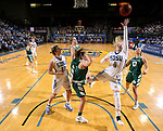 SIOUX FALLS, SD - NOVEMBER 29: Madison Guebert #11 from South Dakota State takes the ball to the basket past Laken James #5 from Wisconsin Green Bay during their game Thursday night at Frost Arena in Brookings. (Photo by Dave Eggen/Inertia)