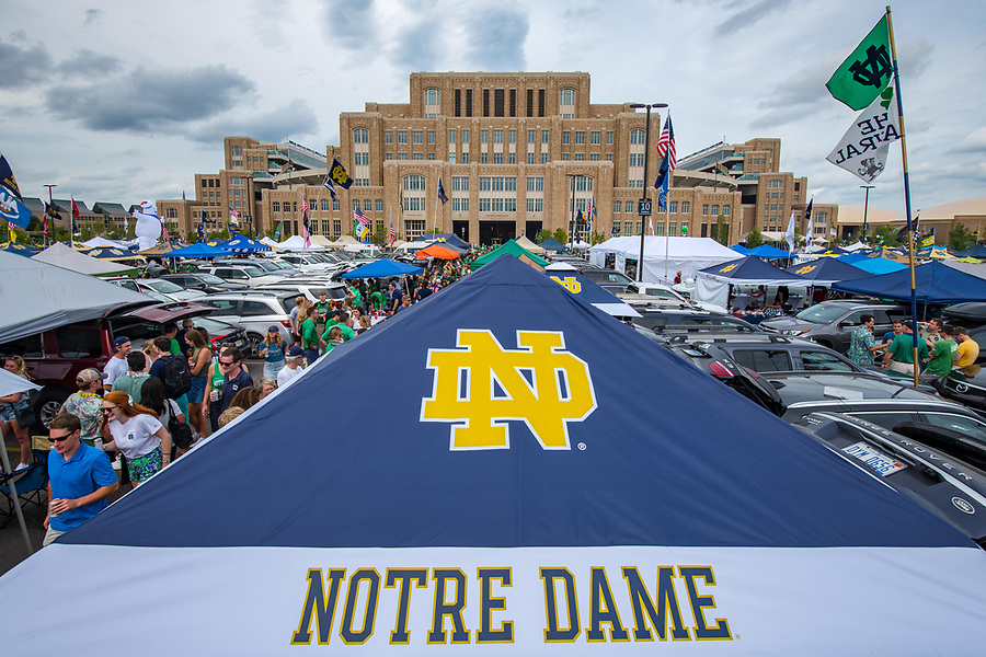 September 1, 2018; Tailgaters before the game against Michigan. (Photo by Matt Cashore)