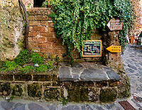 Signs in Civita for Restaurant