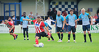 Lincoln City's Jack Payne fails to covert a chance from the penalty spot<br /> <br /> Photographer Chris Vaughan/CameraSport<br /> <br /> Football Pre-Season Friendly (Community Festival of Lincolnshire) - Gainsborough Trinity v Lincoln City - Saturday 6th July 2019 - The Martin & Co Arena - Gainsborough<br /> <br /> World Copyright © 2018 CameraSport. All rights reserved. 43 Linden Ave. Countesthorpe. Leicester. England. LE8 5PG - Tel: +44 (0) 116 277 4147 - admin@camerasport.com - www.camerasport.com