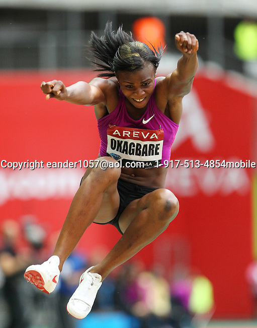 Blessing Okagbare at the Samsung Diamond League. Paris,France Friday, July  16, 2010. photo by Errol Anderson.