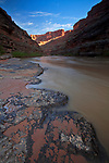 Scenic landscape view of the San Juan River in southern Utah, USA