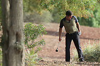 Robert Rock (ENG) on the 18th fairway during the 2nd round of the DP World Tour Championship, Jumeirah Golf Estates, Dubai, United Arab Emirates. 16/11/2018<br /> Picture: Golffile | Fran Caffrey<br /> <br /> <br /> All photo usage must carry mandatory copyright credit (© Golffile | Fran Caffrey)