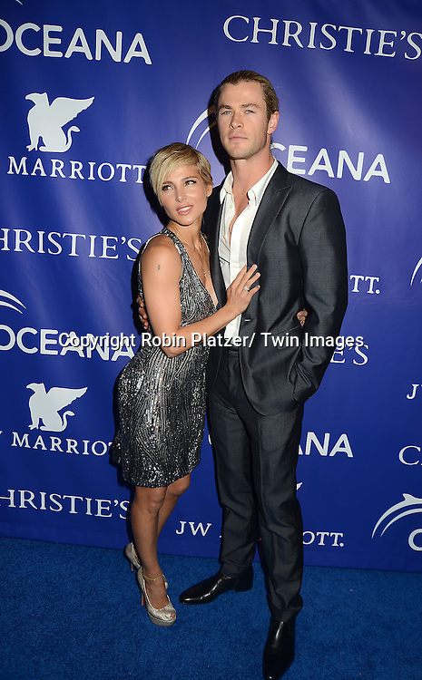 Elsa Pataky and husband Chris Hemsworth  attend the Inaugural Oceana Ball on April 8, 2013 at Christie's in New York City.