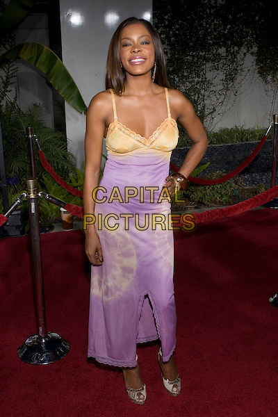 "GOLDEN BROOKS.At the ""Hustle & Flow"" Los Angeles Film Premiere,.held at the Arclight Cinerama Dome, .Hollywood, California, USA, 20th July 2005..full length purple lilac yellow gold dress tie dye.Ref: ADM.www.capitalpictures.com.sales@capitalpictures.com.©Zach Lipp/AdMedia/Capital Pictures."