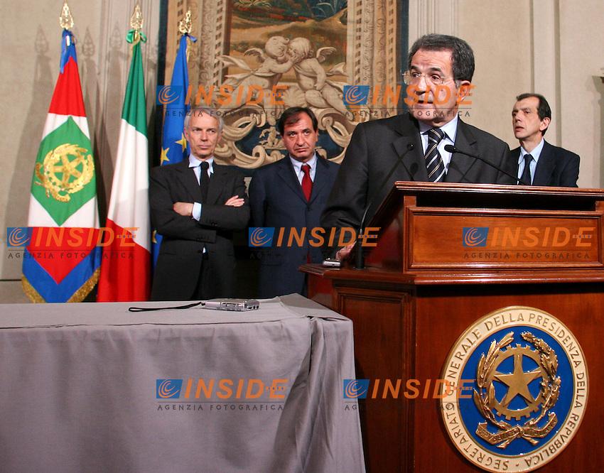 Roma 2006-05-16 Consultazioni al Quirinale per la formazione del nuovo Governo<br /> Nella foto Romano Prodi<br /> Photo Serena Cremaschi Insidefoto
