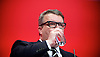 Labour Party Conference <br /> Day 4<br /> 30th September 2015 <br /> Brighton Centre, Brighton, East Sussex <br /> <br /> Tom Watson speech <br /> <br />  <br /> Photograph by Elliott Franks <br /> Image licensed to Elliott Franks Photography Services