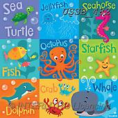 Sarah, CUTE ANIMALS, LUSTIGE TIERE, ANIMALITOS DIVERTIDOS, paintings+++++Ocean-16-A,USSB482,#AC#, EVERYDAY ,collage,marine,sea