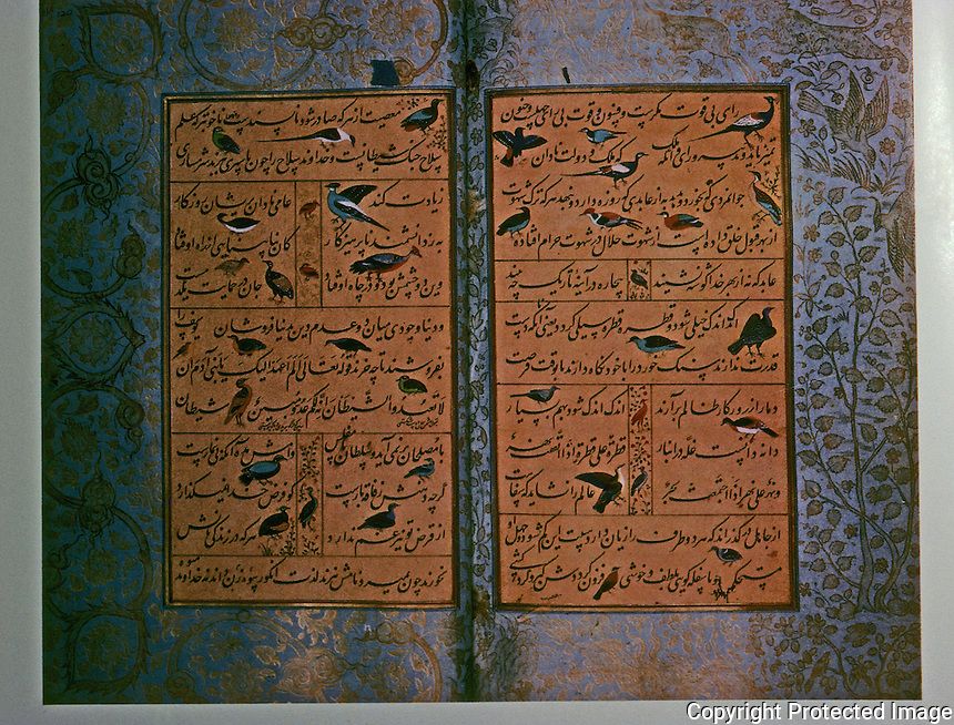 Mughal India:  Manuscript of the Gulistan of Sadi 1582-1583.  The Gulistan is a collection of moral tales by the Persian Poet Muslih Ad-Din Sadi, 11189-1291.