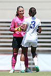 21 August 2016: Duke's EJ Proctor (left) and Imani Dorsey (3). The Duke University Blue Devils played the University of Central Florida Knights in a 2016 NCAA Division I Women's Soccer match. Duke won the game 3-1.