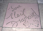 Neil Diamond hand and foot print at Disney's MGM studio in Orlando, Florida on March 18, 1999.