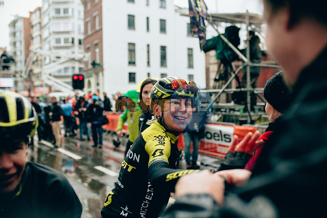 "Annemiek van Vleuten (NED) Mitchelton-Scott Women wins the 2019 Liège-Bastogne-Liège Femmes by 1'39"", running 138.5km from Bastogne to Liege, Belgium. 28th April 2019<br /> Picture: ASO/Thomas Maheux 