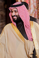 Arabia Saudi heir prince, Mohámed bin Salmán at Royal Palace in Madrid, Spain. April 12, 2018. (ALTERPHOTOS/Borja B.Hojas) /NortePhoto.com
