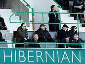 2nd February 2019, Easter Road, Edinburgh, Scotland; Ladbrokes Premiership football, Hibernian versus Aberdeen;  Leeann Dempster, Chief Executive of Hibernian watches on from the main stand