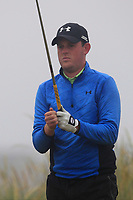 Matthew McClean (Malone) on the 1st tee during Round 1 - Matchplay of the North of Ireland Championship at Royal Portrush Golf Club, Portrush, Co. Antrim on Wednesday 11th July 2018.<br /> Picture:  Thos Caffrey / Golffile