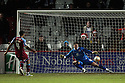 Joss Labadie of Tranmere scores from the penalty spot past Chris Day of Stevenage. - Stevenage v Tranmere Rovers - npower League 1 - Lamex Stadium, Stevenage - 17th December 2011  .© Kevin Coleman 2011 ... ....  ...  . .