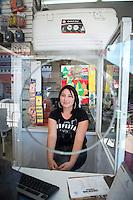 Lesly Elizabeth Urrea Ayala. Hardware store owners in El Dorado, Sinaloa,  Mexico