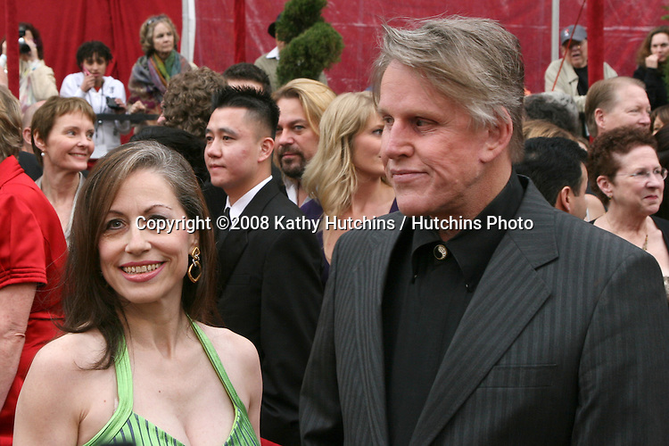 Vicky Roberts & Gary Busey.80th Academy Awards ( Oscars).Kodak Theater.Los Angeles, CA.February 24, 2008.©2008 Kathy Hutchins / Hutchins Photo.
