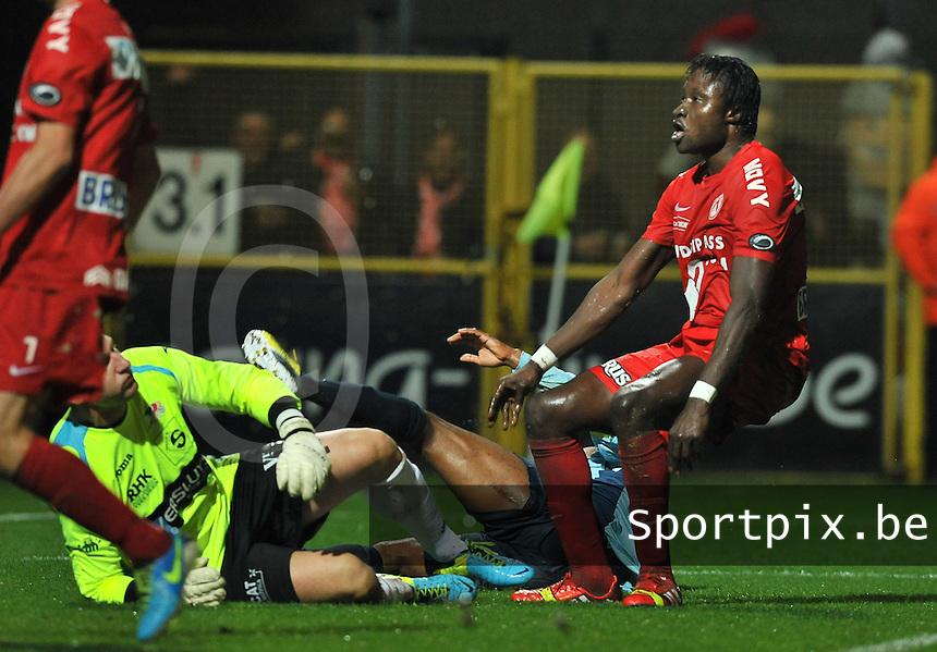 KV Kortrijk - KV Oostende : Elimane Coulibaly (rechts) scoort de 2-0 voor Kortrijk<br /> foto VDB / Bart Vandenbroucke