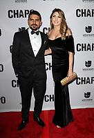 19 April 2017 - Los Angeles, California - Alejandro Aguilar and partner Ana Soto. Univision's 'El Chapo' Original Series Premiere Event held at The Landmark Theatre. Photo Credit: AdMedia