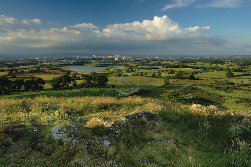 Glasgow and The Campsie Fells from Duncarnock Fort (The Craigie), Barrhead, East Renfrewshire<br /> <br /> Copyright www.scottishhorizons.co.uk/Keith Fergus 2011 All Rights Reserved