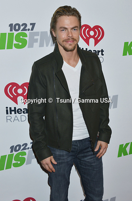 Derek Hough 152 at the 7944_KIIS FM s Jingle Ball concert at the Staples Center in Los Angeles December 5, 2014