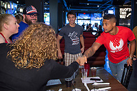Zack Steffen meets with fans attending a U.S. Soccer Sunday Kick-off Series Event at Nashville Underground on Sunday, September 9, 2018 in Nashville, TN.