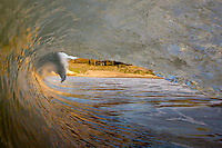 A wave breaks along the gaviota coast of Santa Barbara Coutny, California