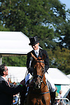Sinead Halpin riding Manoir De Carneville during day 2 of the dressage phase at the 2012 Land Rover Burghley Horse Trials in Stamford, Lincolnshire,UK.