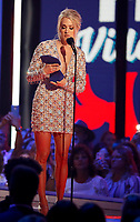 NASHVILLE, TN - JUNE 5: Carrie Underwood accepts an award on the 2019 CMT Music Awards at Bridgestone Arena on June 5, 2019 in Nashville, Tennessee. (Photo by Frederick Breedon/PictureGroup)