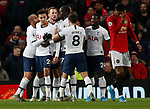 Tottenham Hotspur's Dele Alli celebrates with his teammates after scoring during the Premier League match at Old Trafford, Manchester. Picture date: 4th December 2019. Picture credit should read: Darren Staples/Sportimage