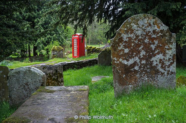 Telephone box, Capel-Y-Fin, Ewyas Valley, Wales