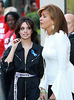NEW YORK, NY - SEPTEMBER 29:  Camila Cabello pictured with host Hoda Kotb on NBC's Today Show Citi Concert Series in New York City on September 29, 2017. Credit: RW/MediaPunch